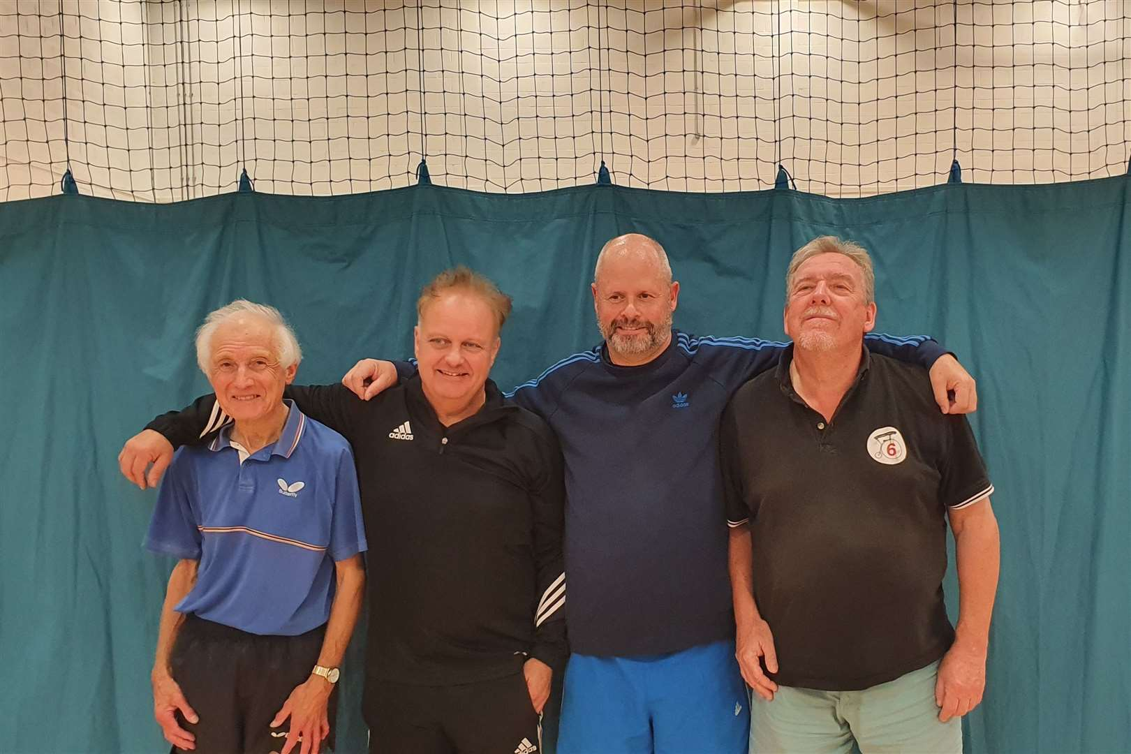 Phil Paine and John Price, of Snitterfield, with their opponents Nigel Payne and Tim Fell of Henley.