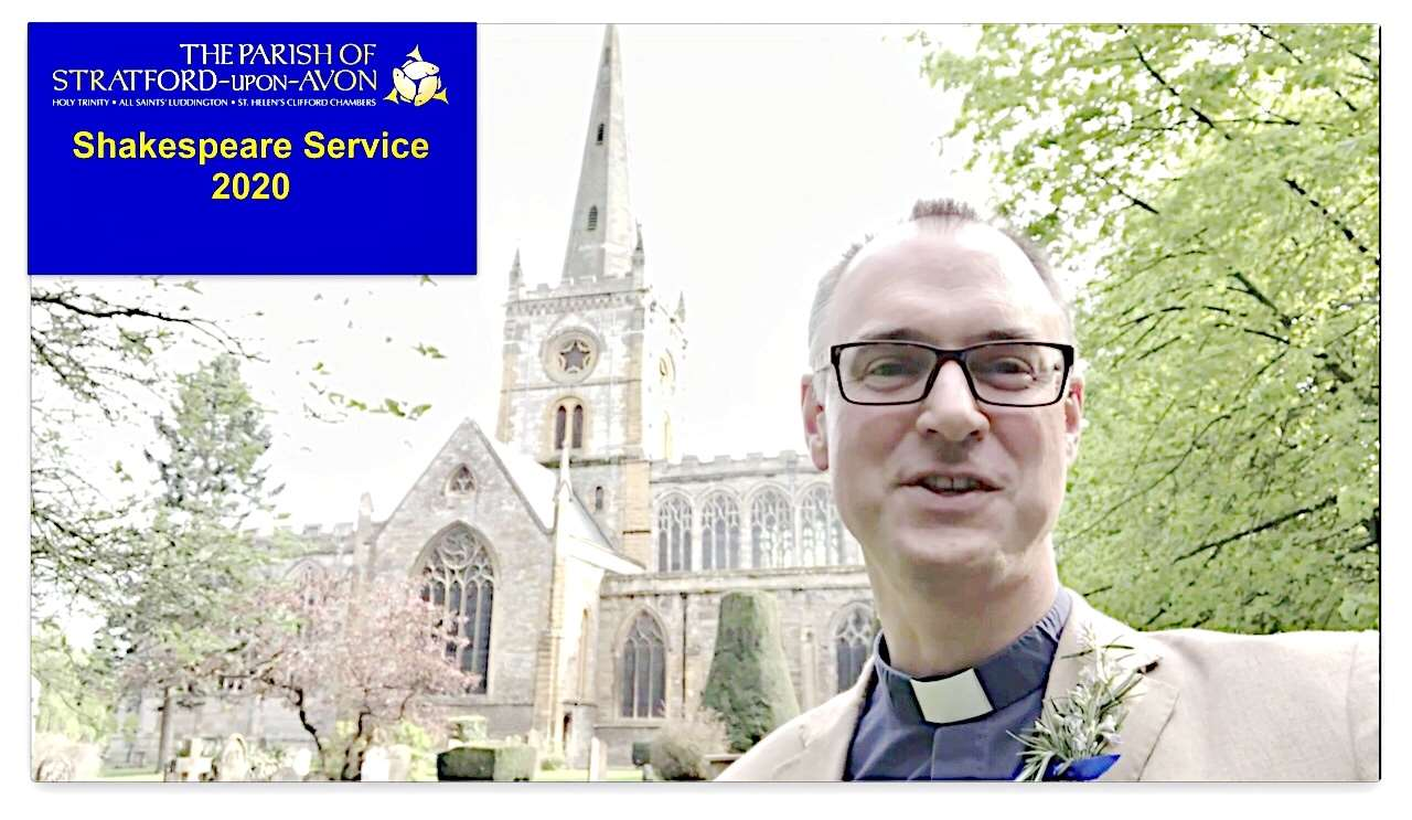 Vicar of Stratford Rev Patrick Taylor leads the pre-recorded service, available to watch from 11am today, Sunday, 26th April