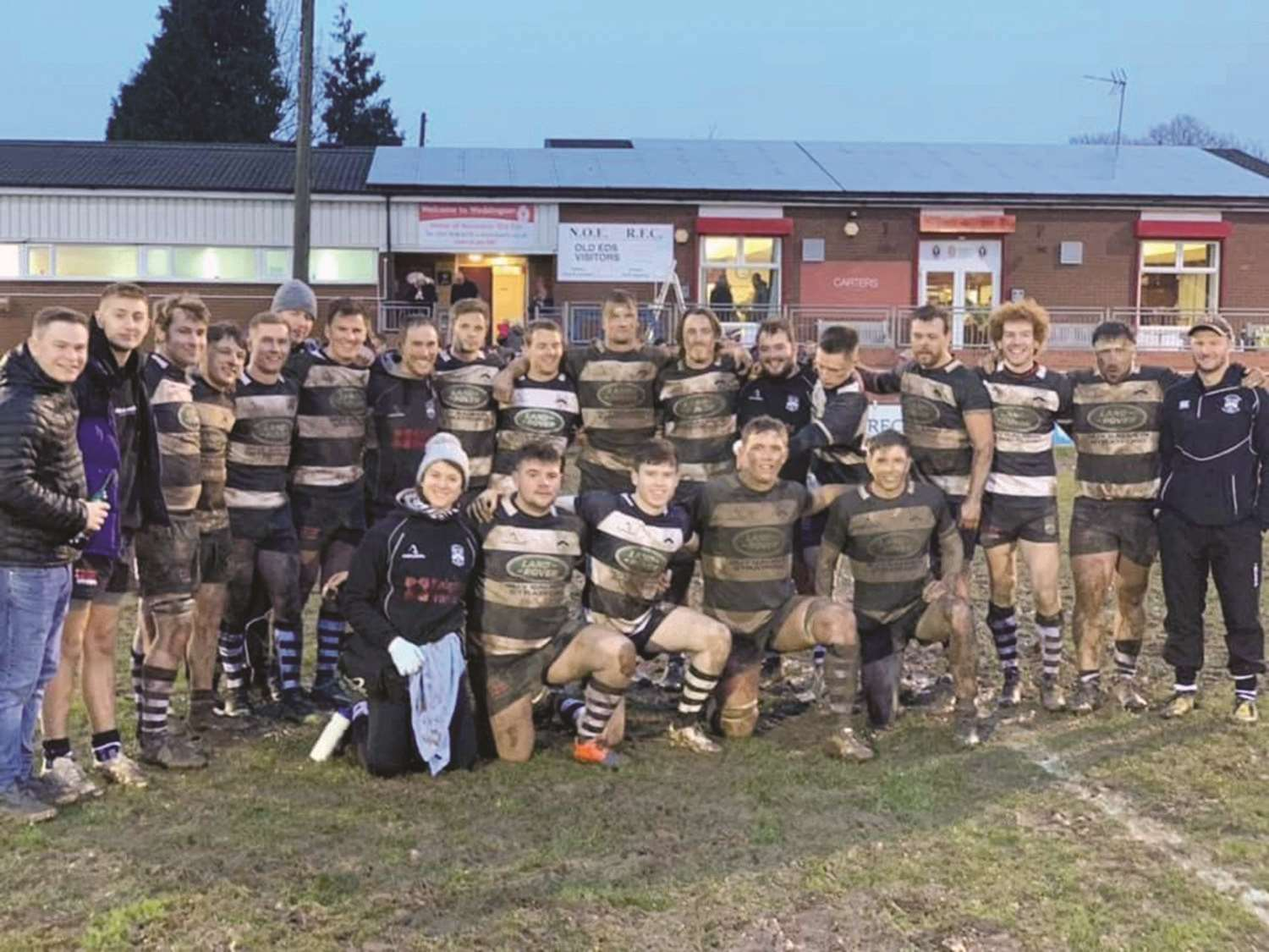 Stratford are all smiles following their win over Nuneaton Old Edwardians.