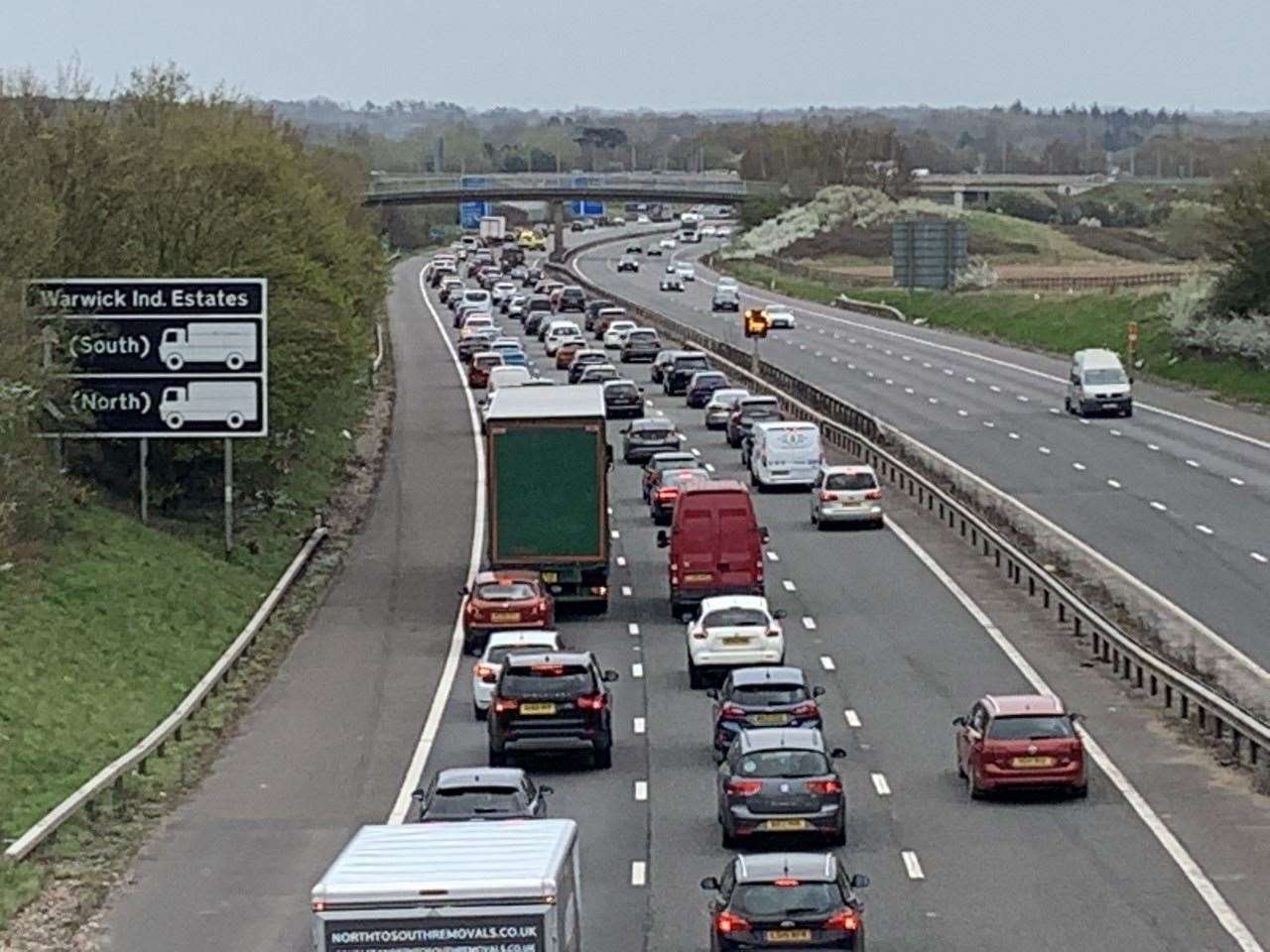 The M40 pictured this afternoon. (45799240)